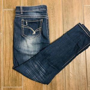Hydraulic Womens Distressed Skinny Jeans